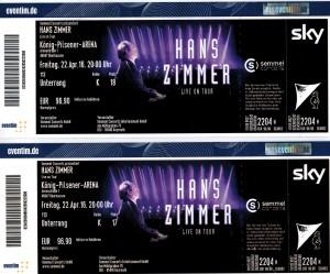 HansZimmer Eintrittskarten