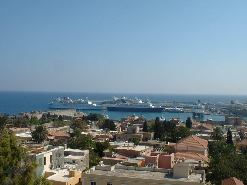 Rhodos Panorama6 Hafen