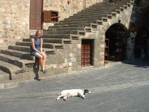 Rhodos Treppe Hille Hund