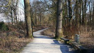 Auf dem Foto links ist die WLE Trasse zu sehen.