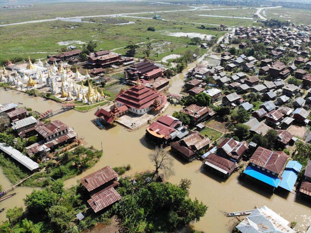 Myanmar Drohnenflug