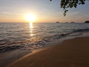 Sonnenuntergang Strände auf Koh Chang